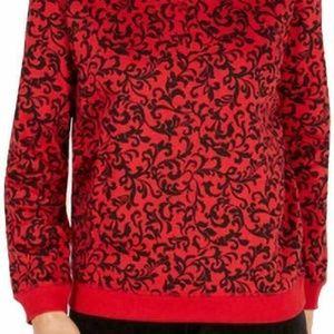 Karen Scott XL Red Pull Over Sweater 6I64